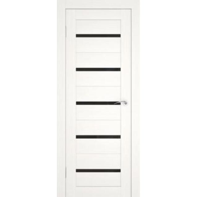 Дверь U-1 (Черное стекло) Беленый дуб